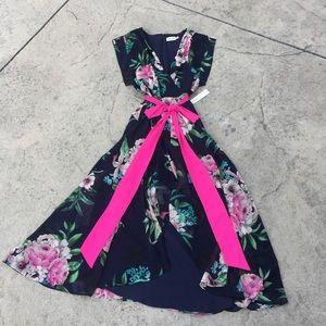 Eliza J High Low Floral Dress